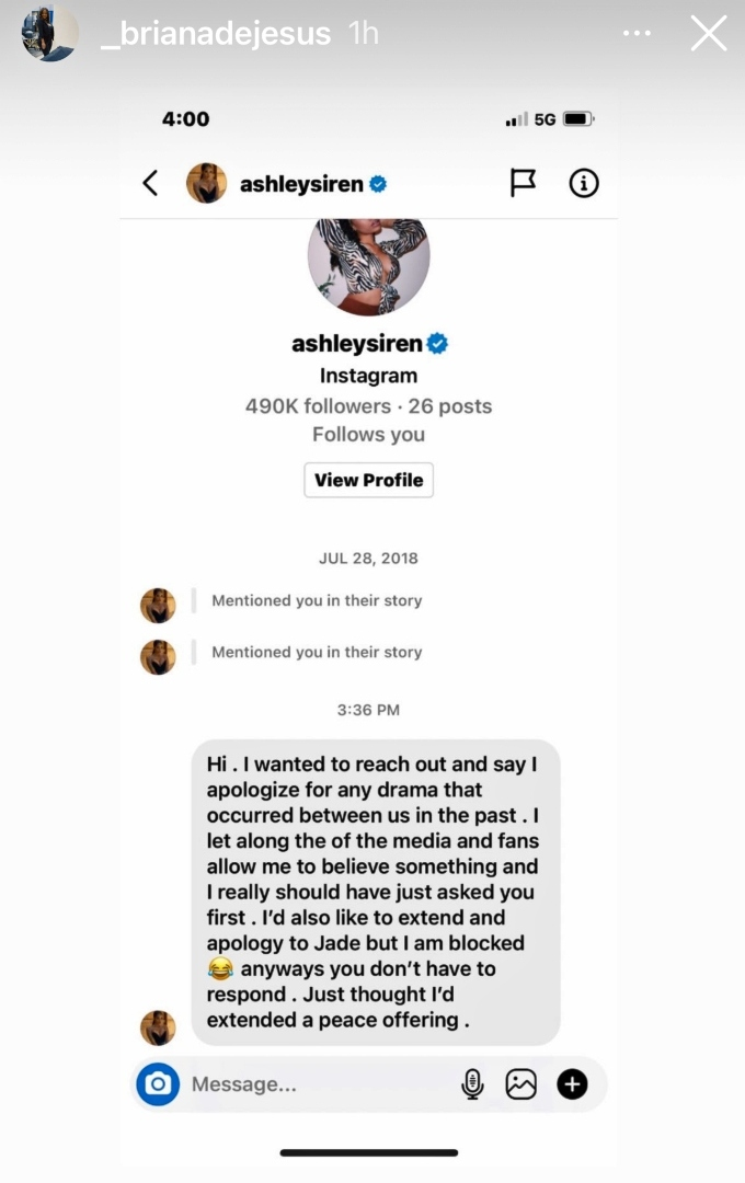 Briana DeJesus and Ashley Jones of Teen Mom 2 on Instagram
