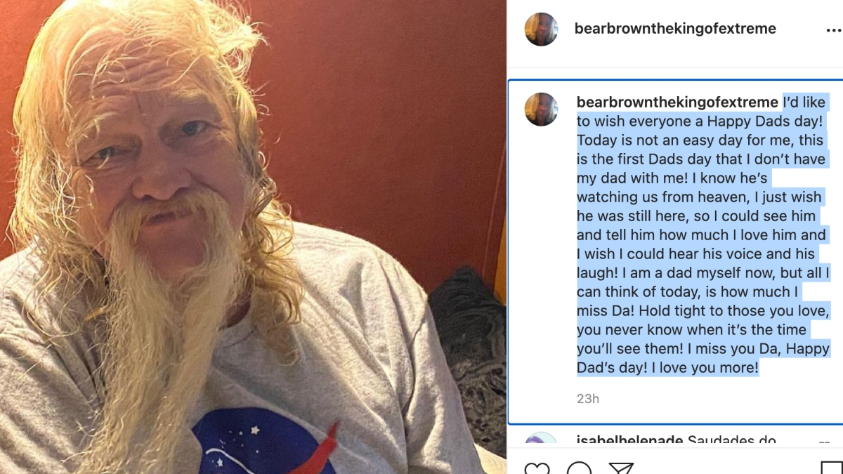 Bear Brown posts loving tribute.