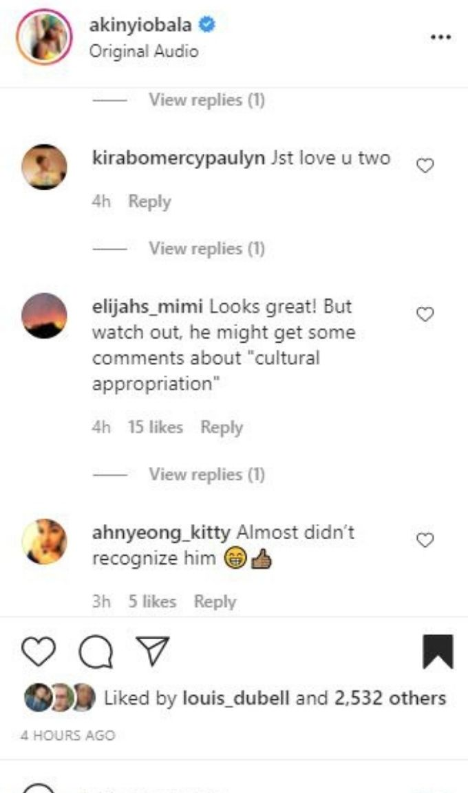 Instagram post from Akinyi and Benjamin