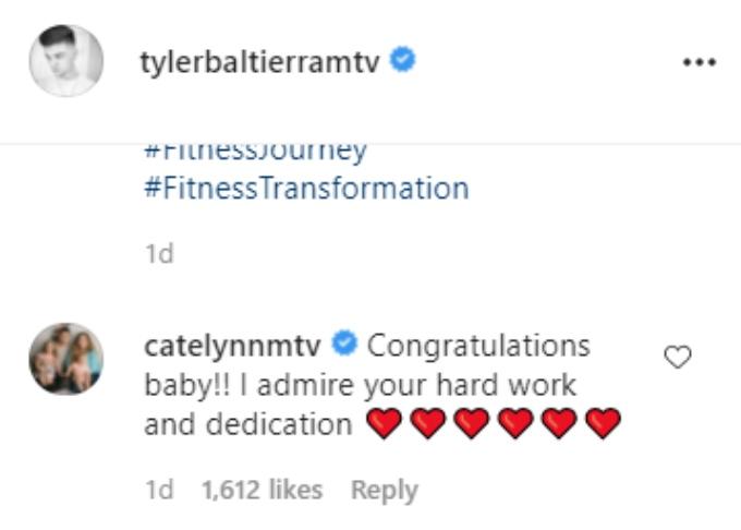 Tyler and Catelynn Baltierra of Teen Mom OG on Instagram