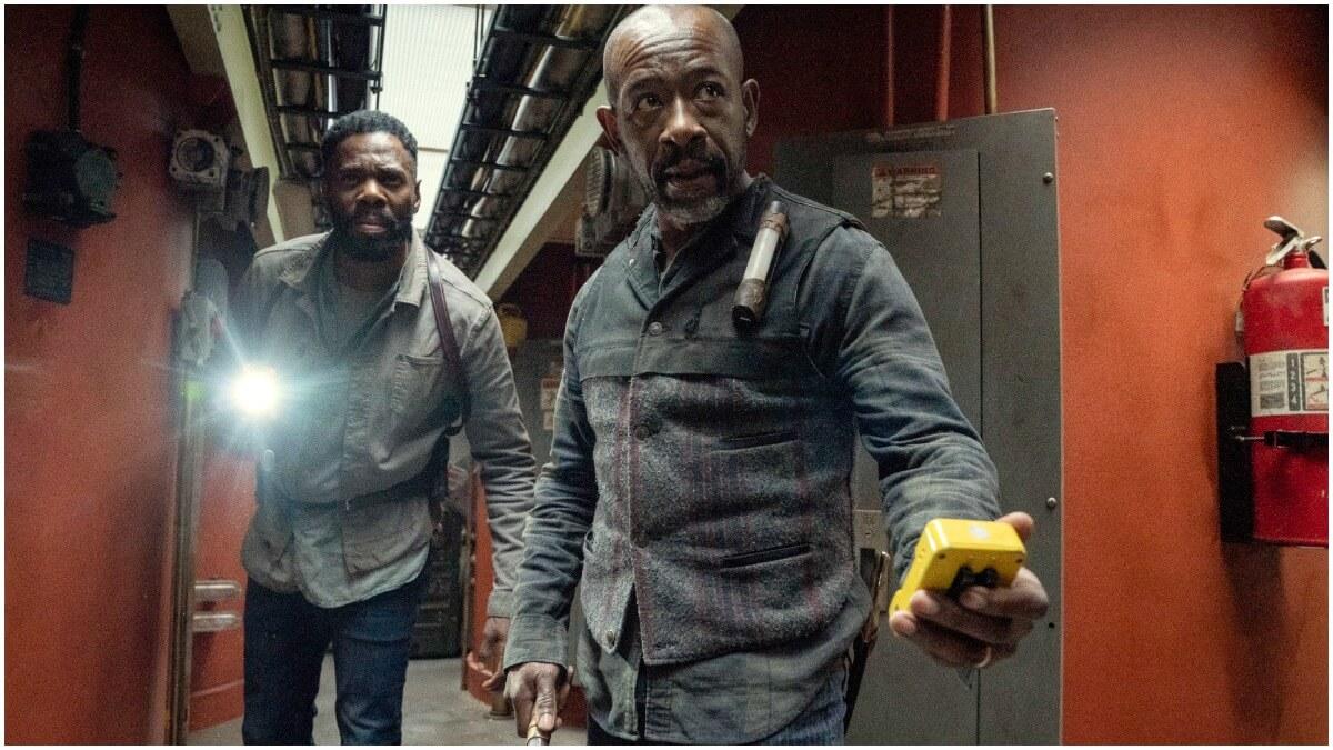 Colman Domingo as Victor Strand and Lennie James as Morgan Jones, as seen in Episode 15 of AMC's Fear the Walking Dead Season 6