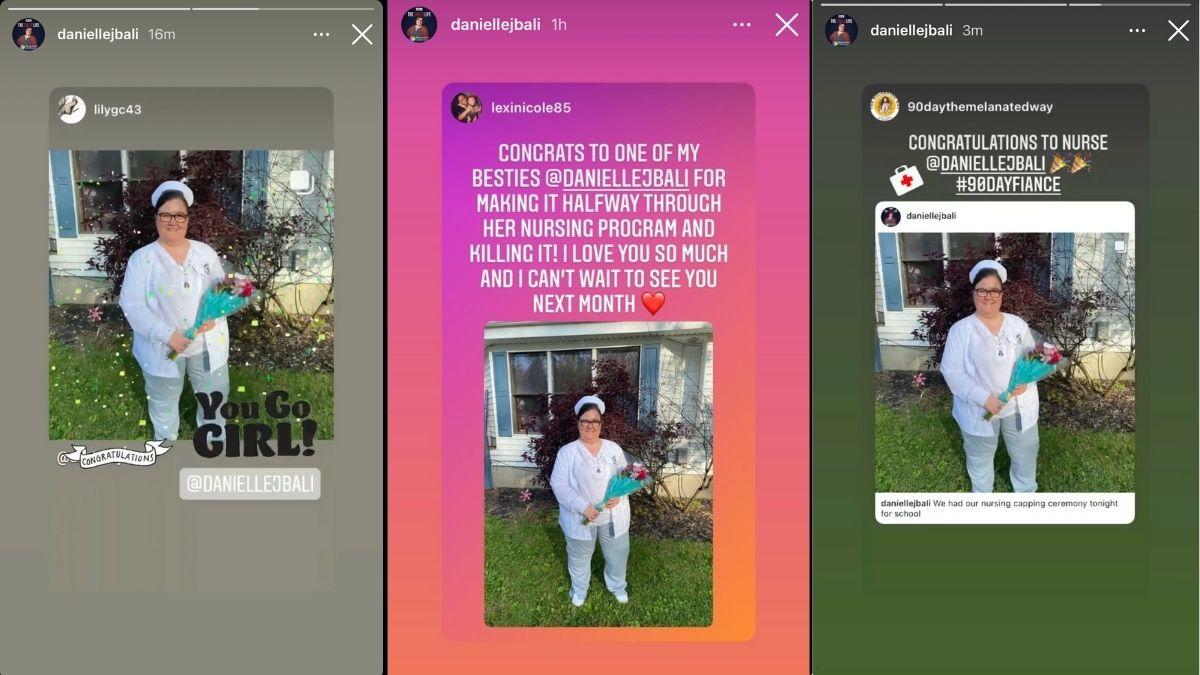 Danielle Jblai IG story post