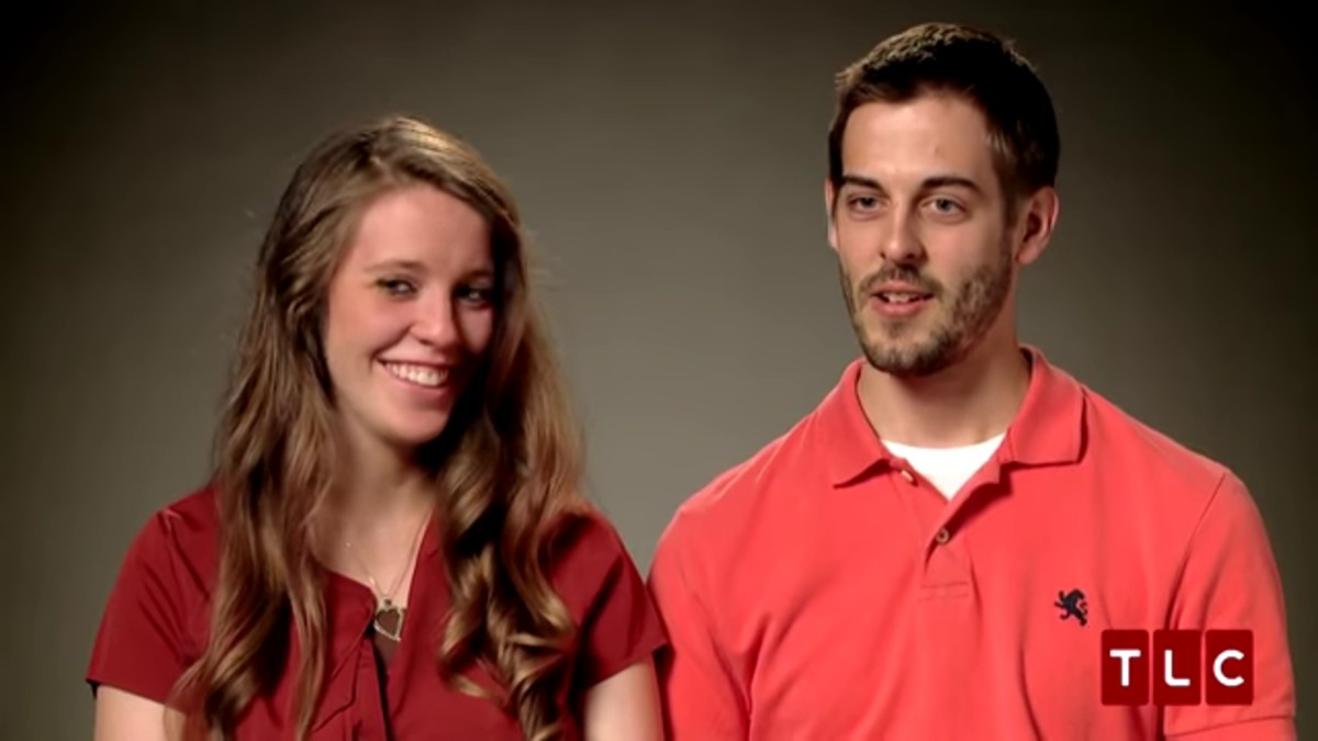 Derick Dillard and Jill Duggar in a confessional.