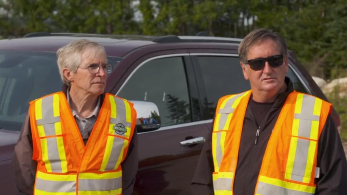 Dr. Ian Spooner with Craig Tester on Oak Island