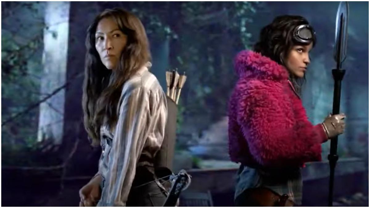 Eleanor Matsuura as Yumiko and Paola Lazaro as Princess, as seen in the Season 11 trailer for AMC's The Walking Dead