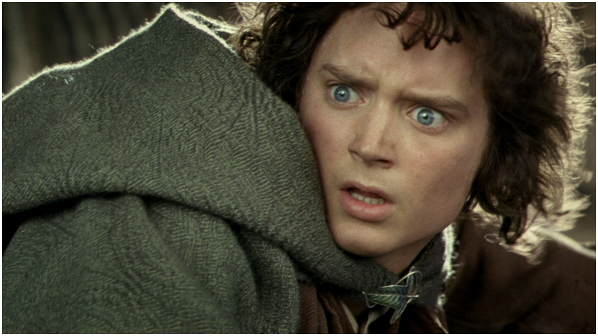 Elijah Woods stars as Frodo Baggins in The Lord of the Rings: The Two Towers