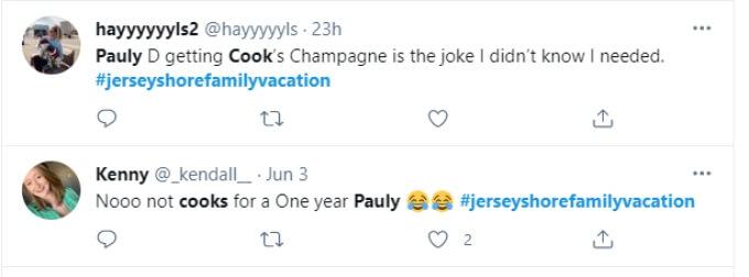Fans criticize Pauly's cheap champagne choice
