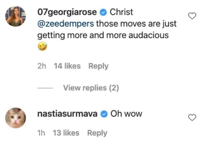 Georgia and Anastasia show excitement over BDM premiere.