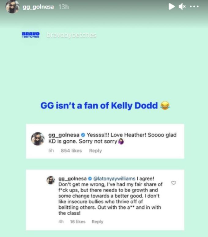 Golnesa takes aim at Kelly Dodd