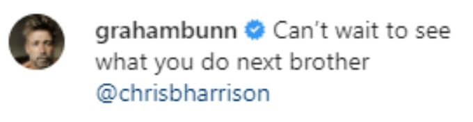 Graham Bunn offers his support
