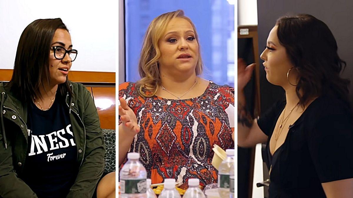 Jade DeJesus, Christy Smith and Jade Cline of Teen Mom 2