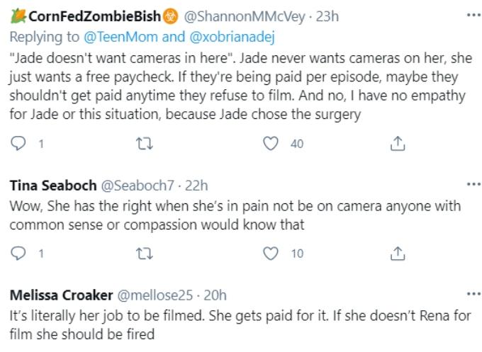 Briana DeJesus and Jade Cline of Teen Mom 2 on Twitter