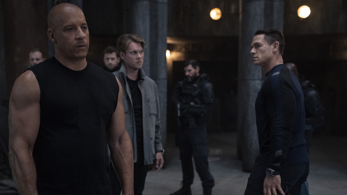 John Cena and Vin Diesel  in Fast and Furious 9.