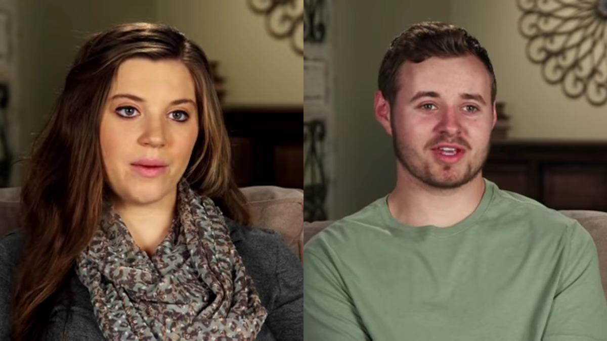 Joy-Anna Duggar and Jedidiah Duggar in Counting On confessionals.