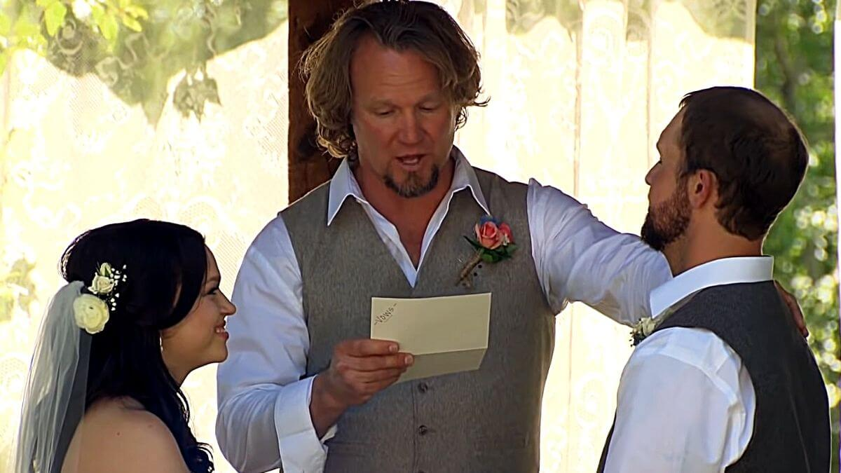 Maddie and Caleb Brush and Kody Brown of Sister Wives on TLC
