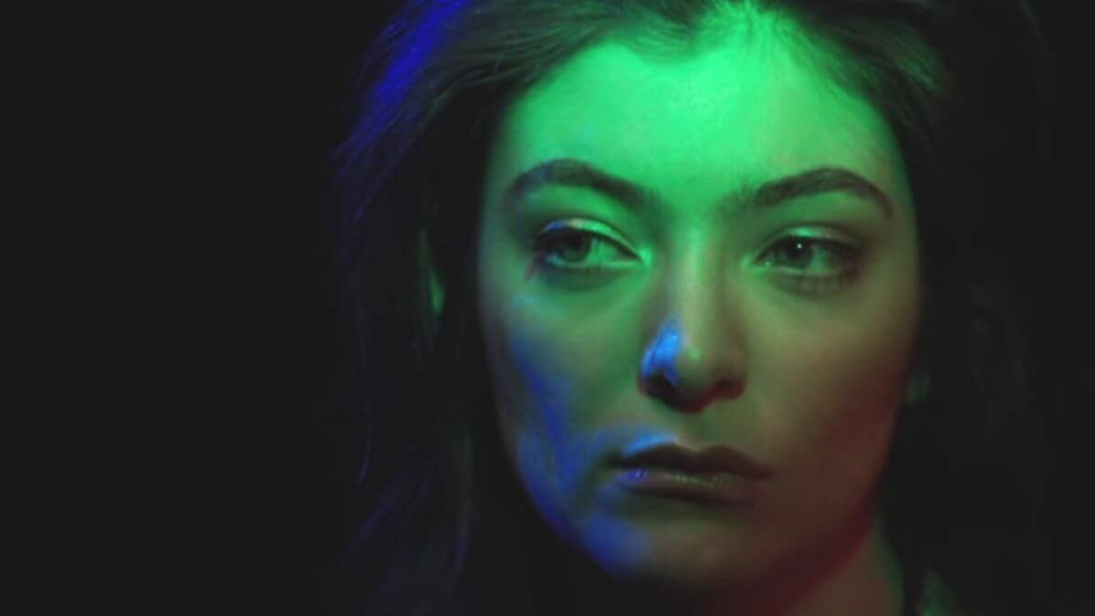 Screenshot from Lorde music video.