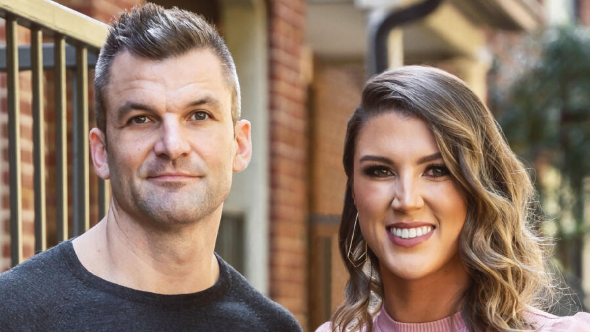 Haley and Jacob smile at the camera in promo picture