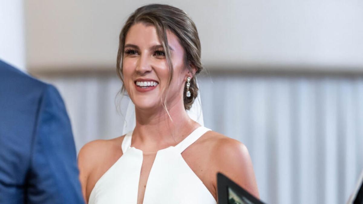 MAFS's Haley Harris smiles on her wedding day