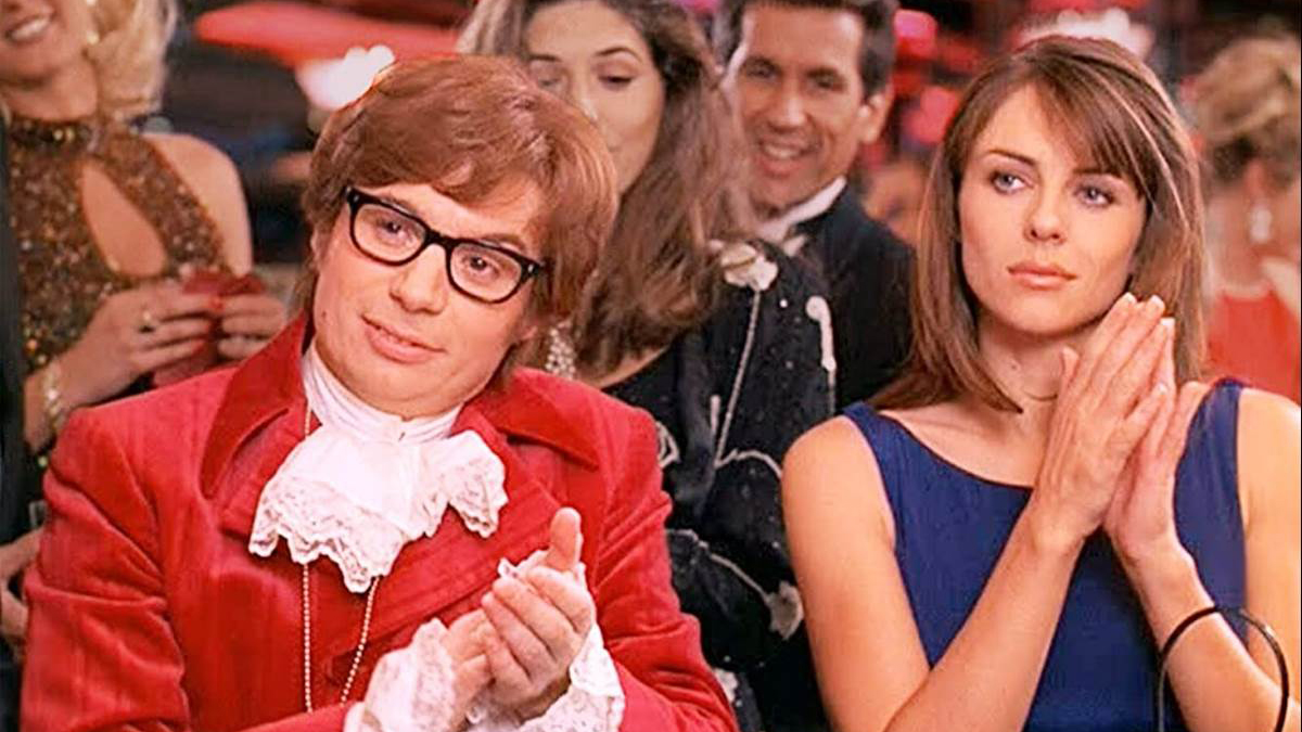 Mike Myers and Liz Hurley in Austin Powers International Man of Mystery