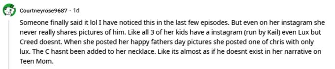Kail Lowry of Teen Mom 2 on Reddit