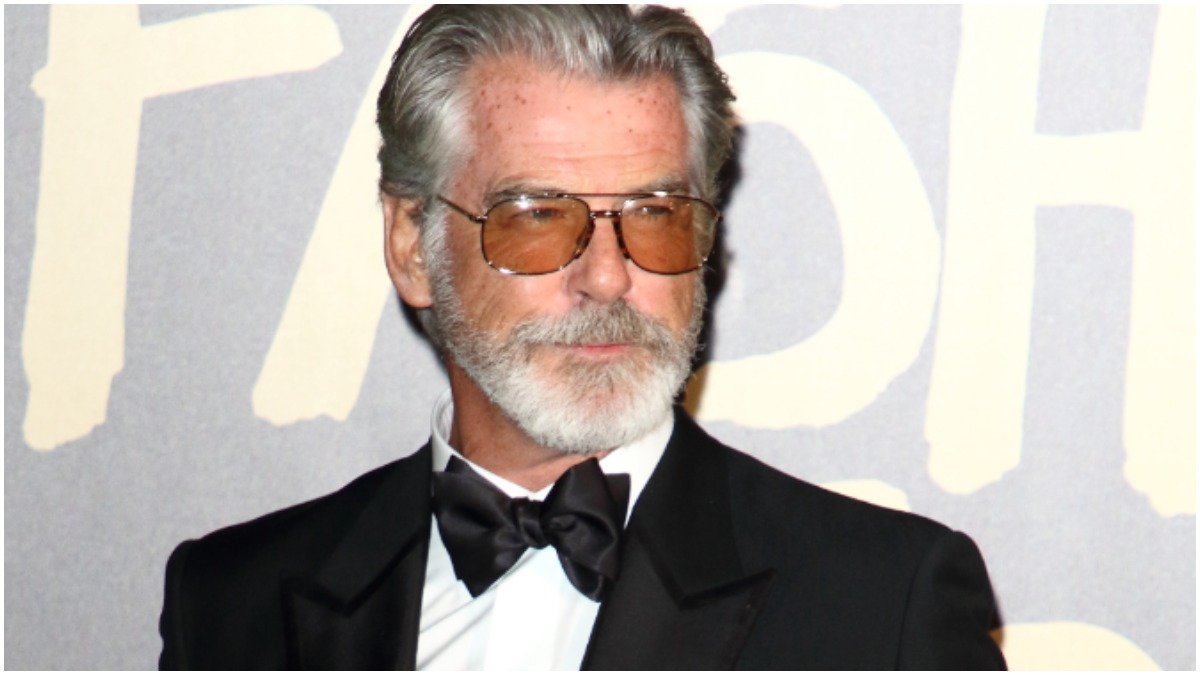 Pierce Brosnan at Spring Summer 2020 Naomi Campbell's Fashion For Relief Red Carpet Arrivals at the British Museum, London Fashion Week