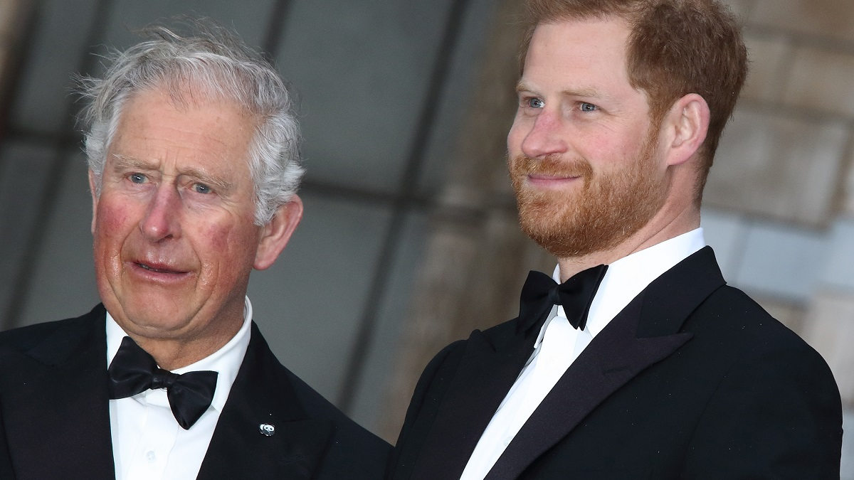 Prince Harry and his father Prince Charles.