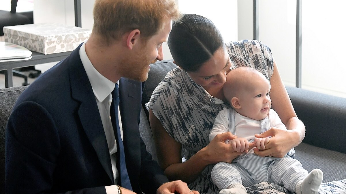 Meghan Markle, Prince Harry, and baby Archie.