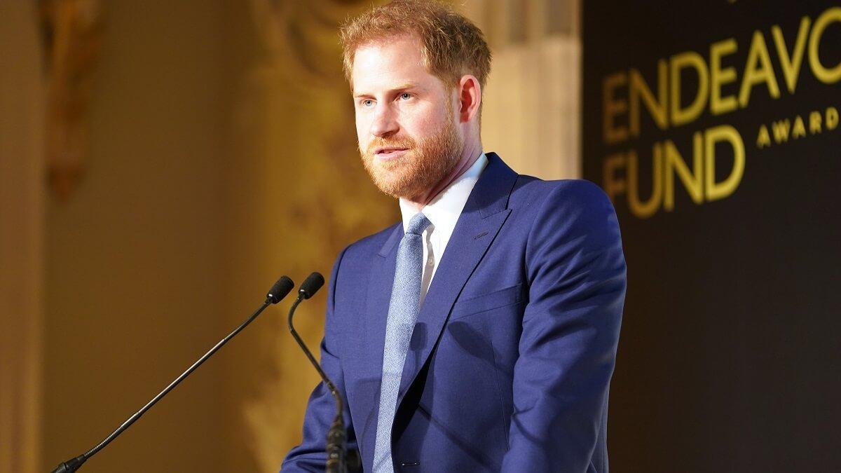 Prince Harry speaking in public