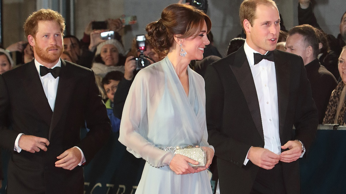Prince Harry with Prince William and Kate