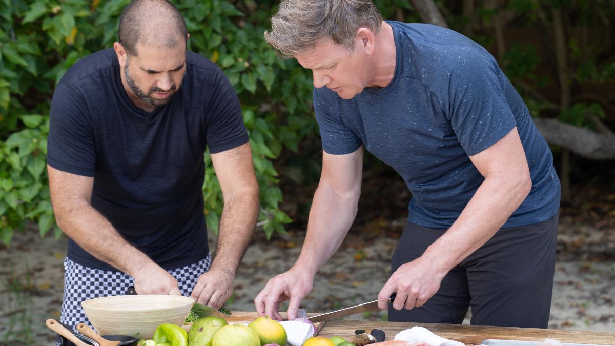Jose Enrique cooks