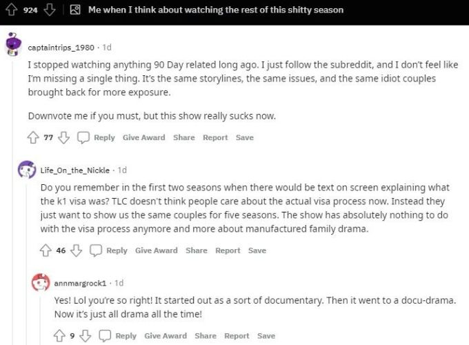 Reddit thread about season 6 of Happily Ever After