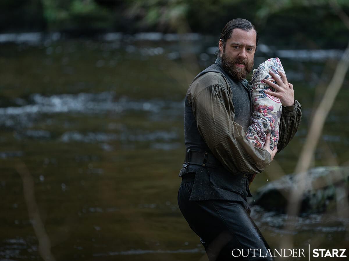 Richard Rankin as Roger Mackenzie, as seen in Season 6 of Starz's Outlander