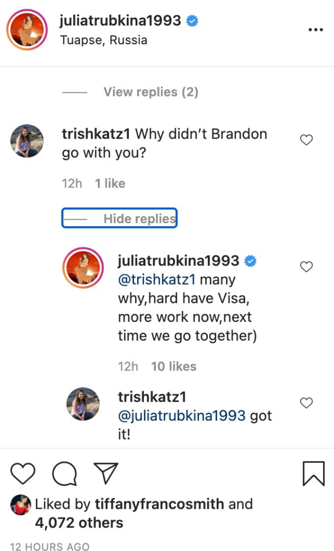 Julia responds to fan's questions.