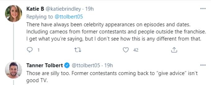Tanner discusses former contestants returning