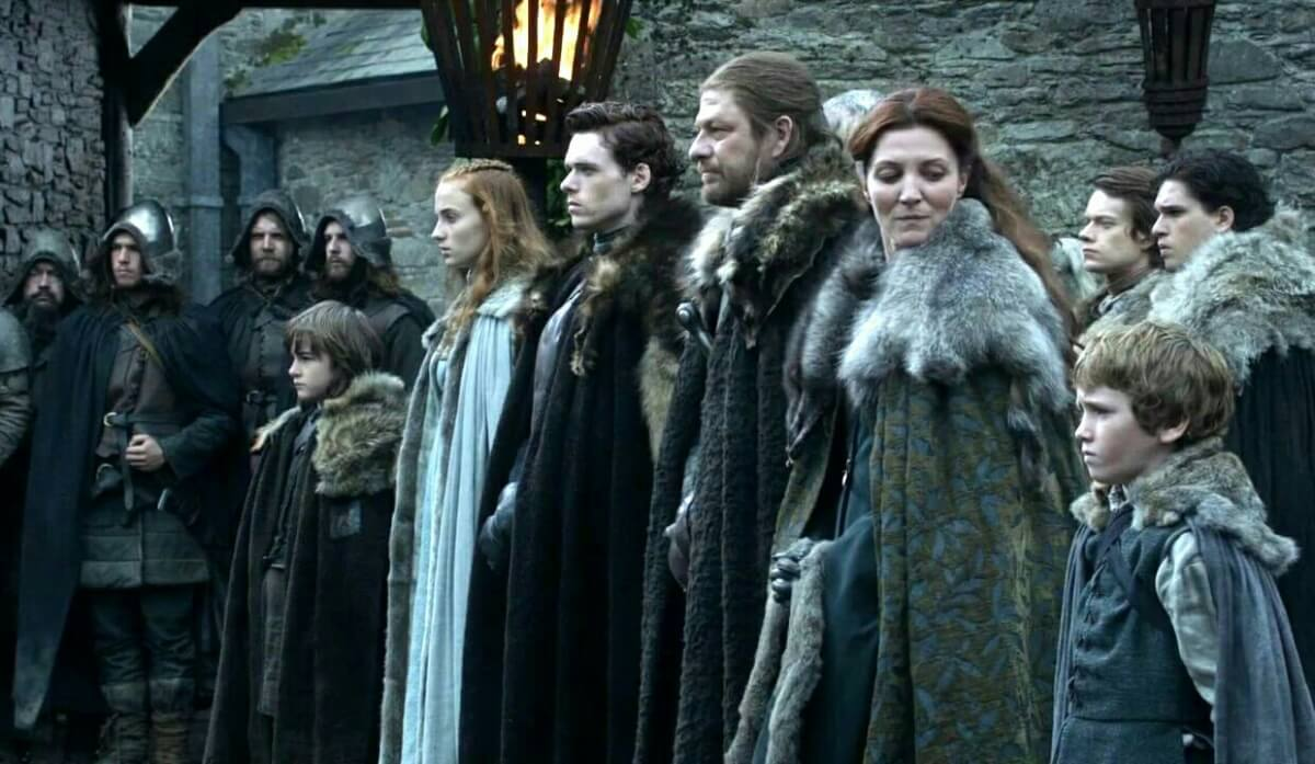 The Stark Family, as seen in Season 1 of HBO's Game of Thrones