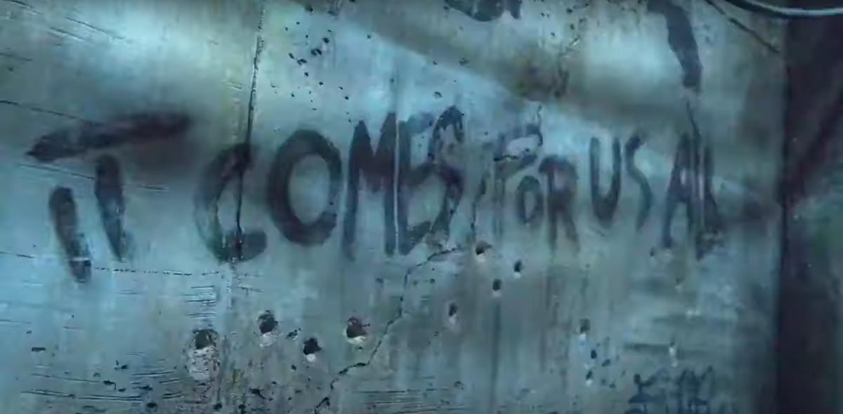 Graffiti that featured in the new trailer for Season 11 of AMC's The Walking Dead