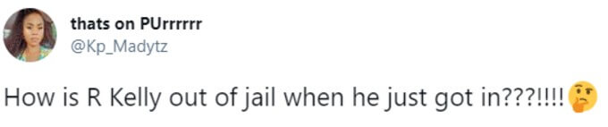 Twitter user asks how R. Kelly could get out of jail