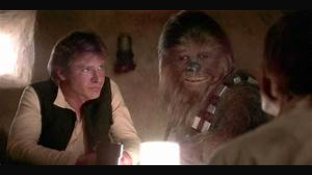 Han and Chewbacca in Star Wars