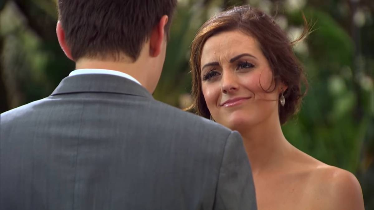 Carly Waddell and Evan Bass film for Bachelor in Paradise