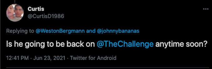 challenge fan reacts to wes joke about bananas about return to show