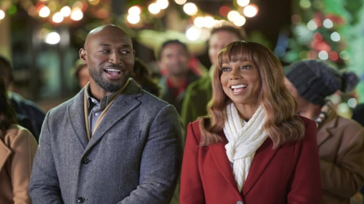 Holly Robinson Peete and Adrian Holmes star in The Christmas Doctor on Hallmark Movies and Mysteries.