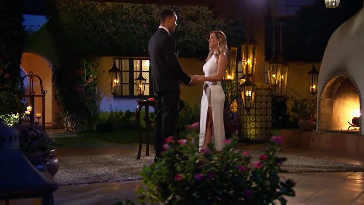 Clare and Dale film for The Bachelorette.