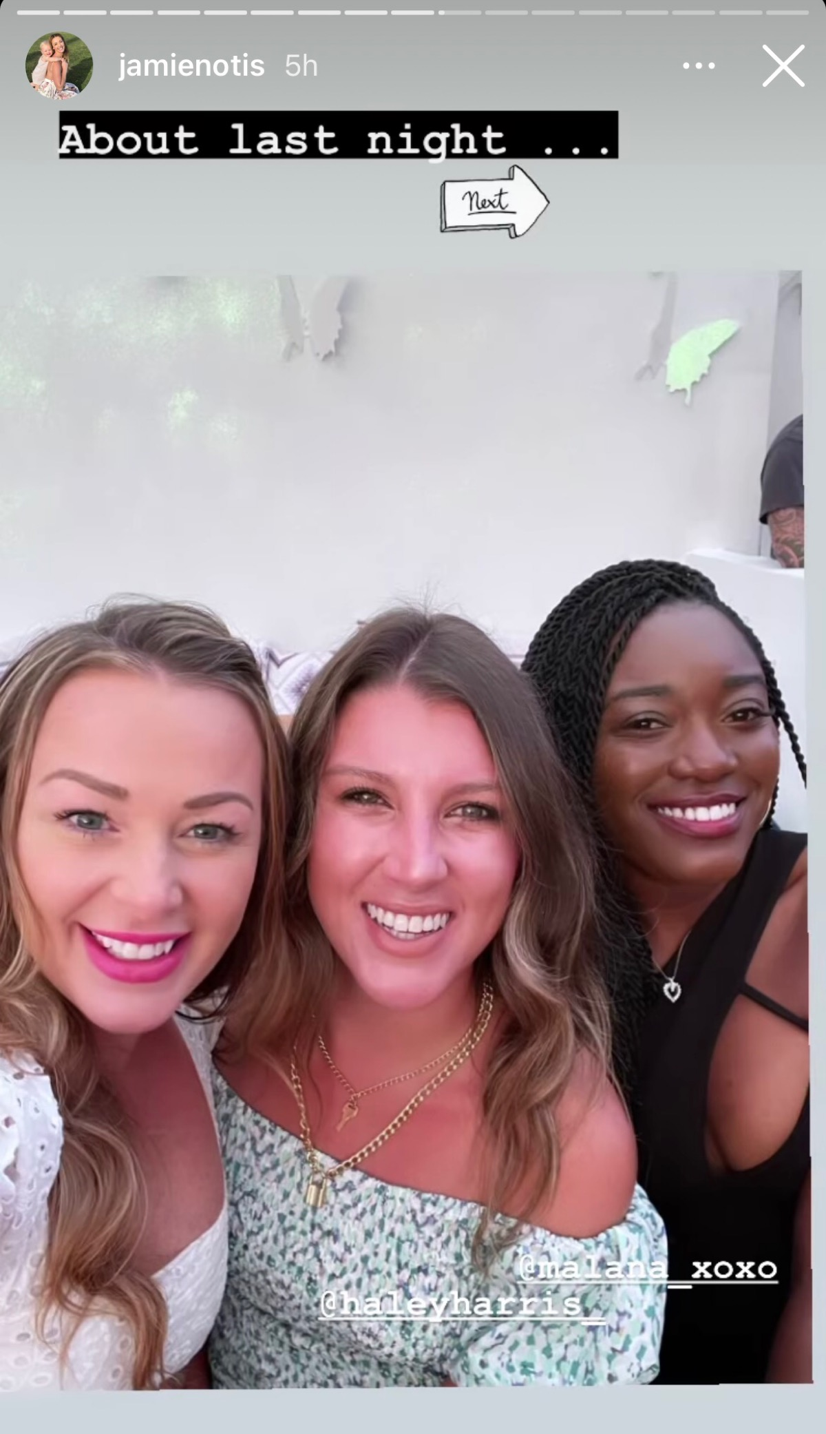 Jamie Otis poses with Haley Harris and Paige Banks in Miami