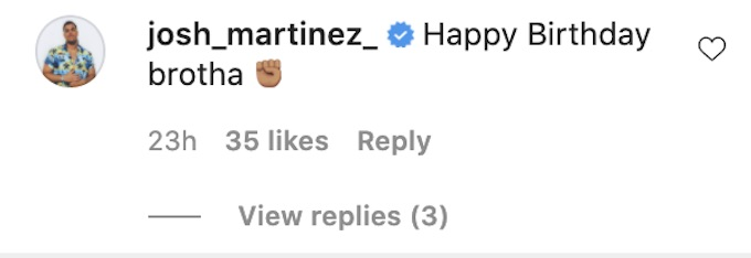 the challenge josh martinez on bananas birthday ig post