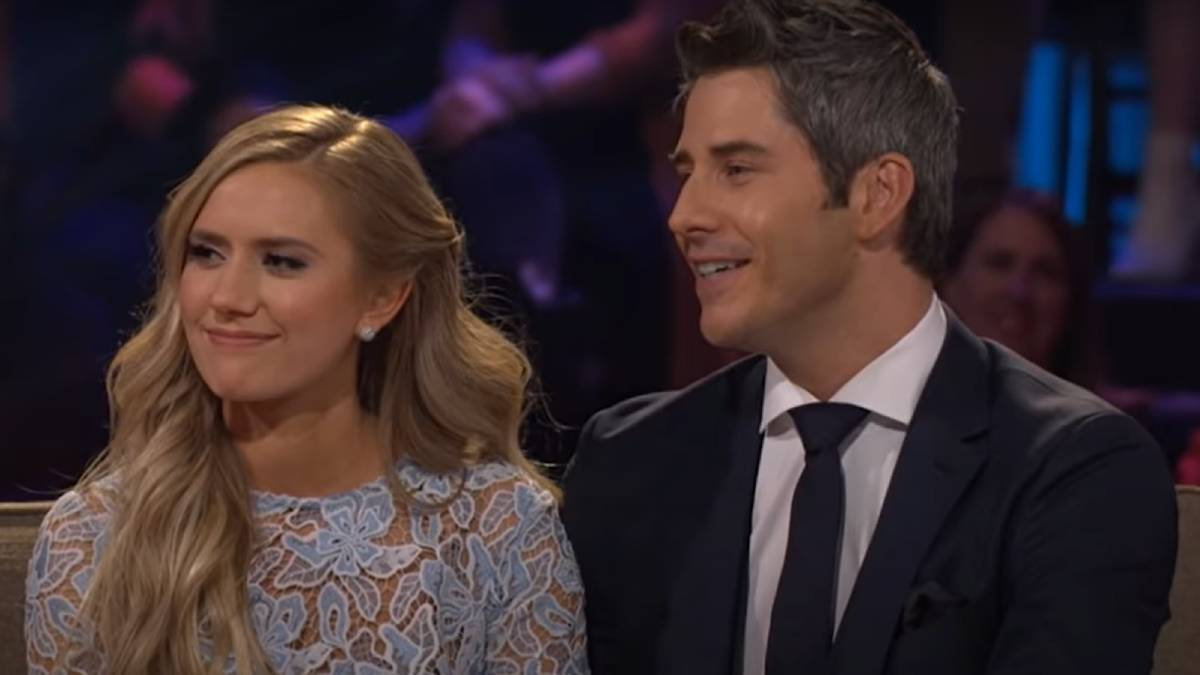 Lauren and Arie film for The Bachelor