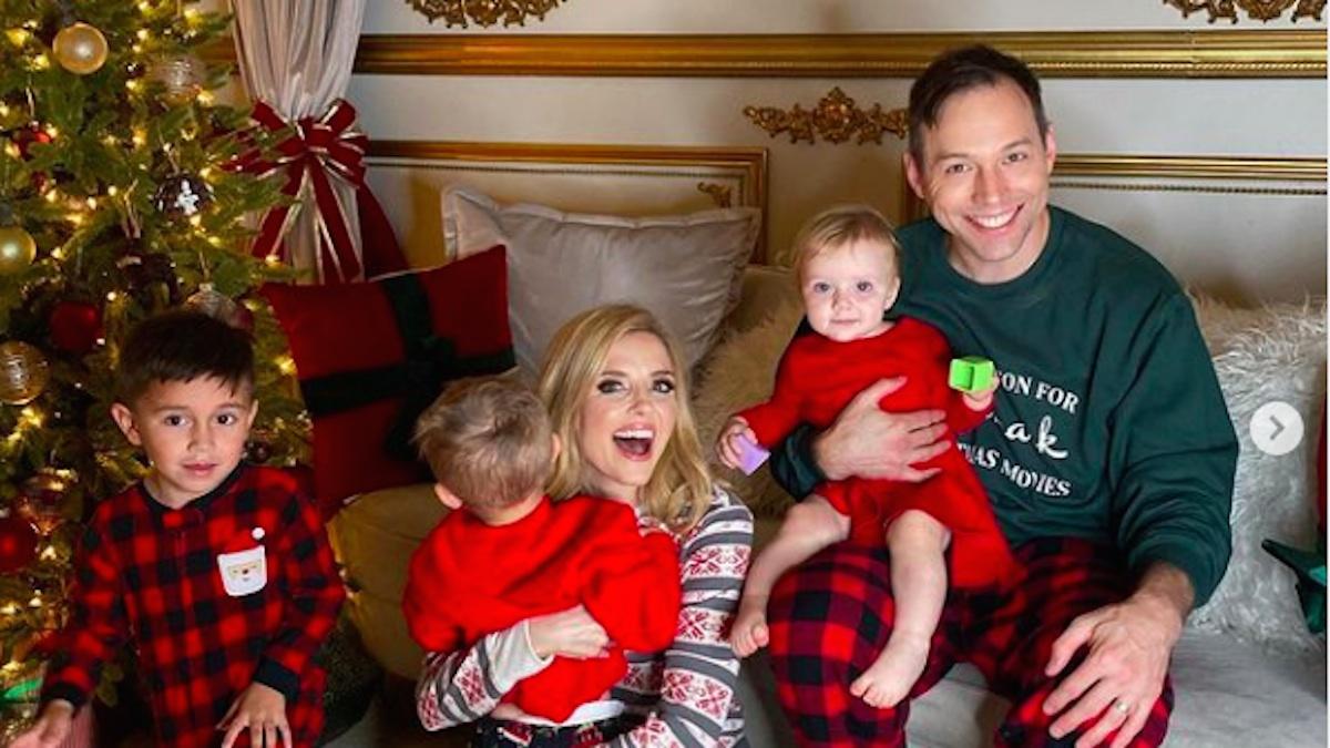 Jen Lilley celebrates Christmas with her husband, Jason Wayne, and their three children, Kayden, Jeffrey, and Julie Evangeline.