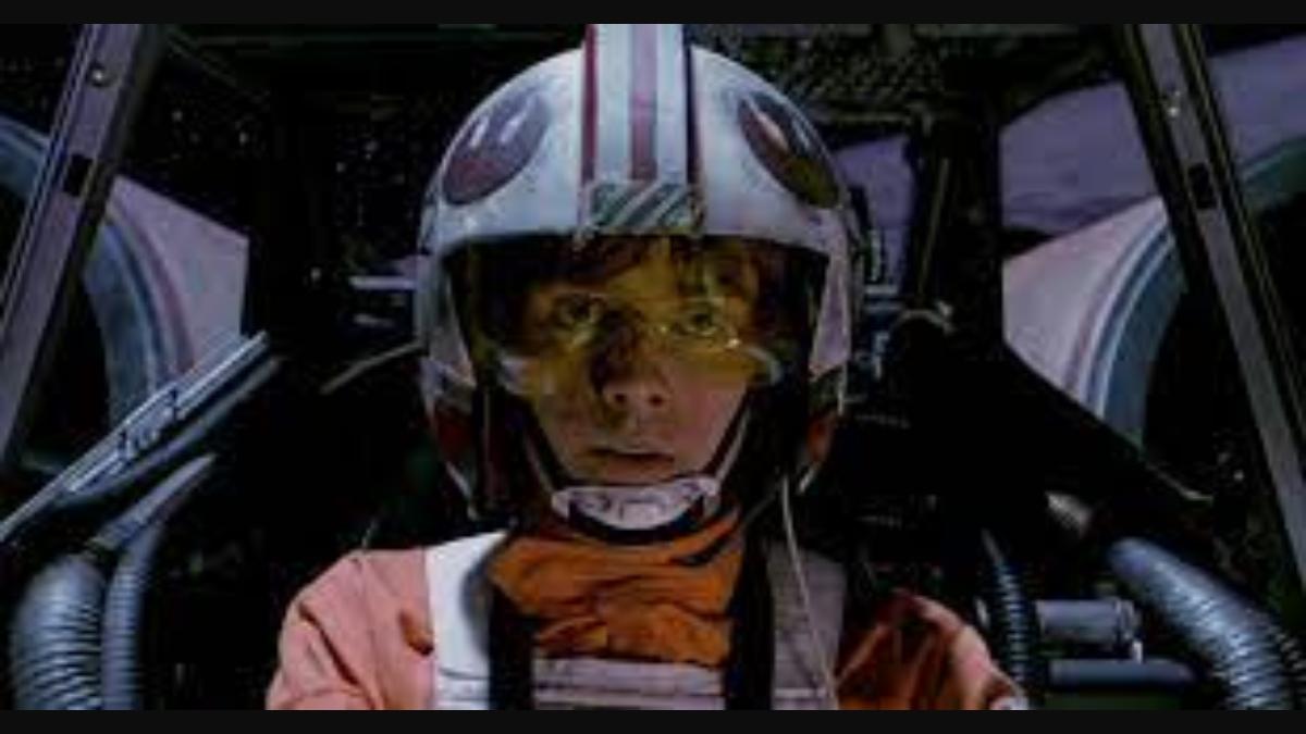 Luke in the cockpit