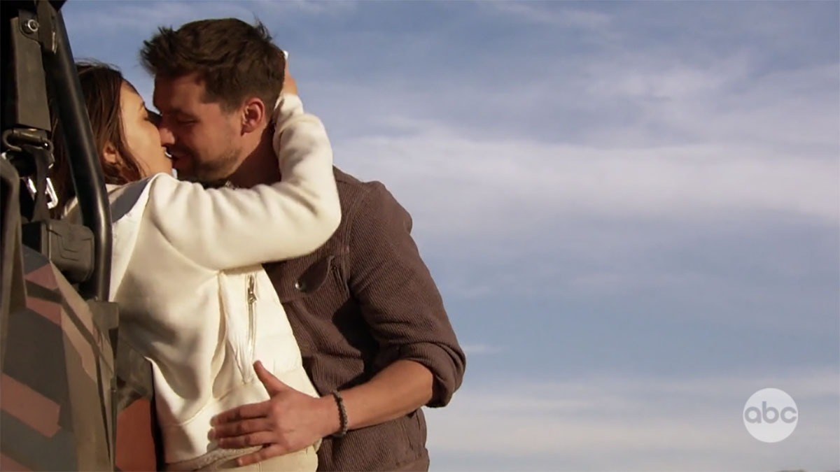 Katie Thruston and Michael A kiss on The Bachelorette
