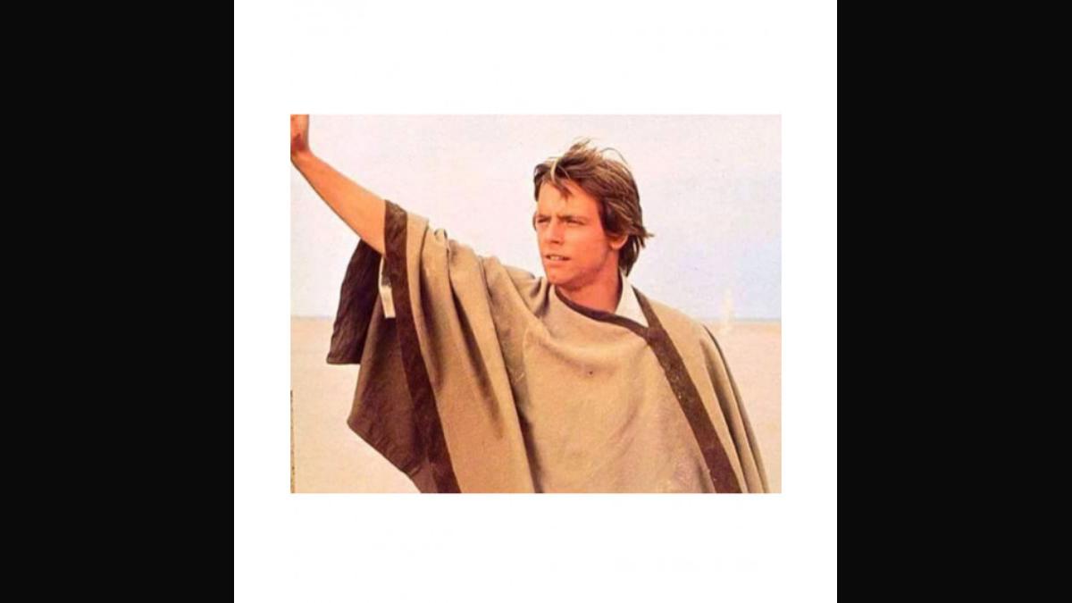 Luke Skywalker wearing his poncho