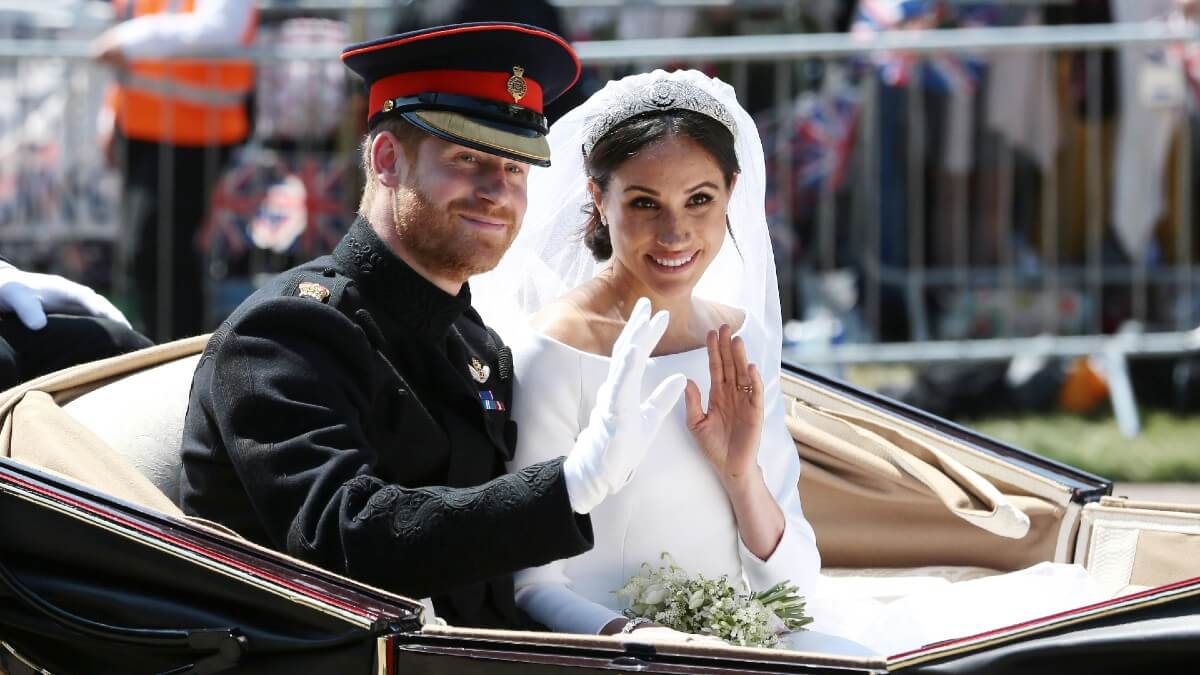 Meghan and Harry at their wedding